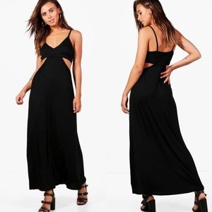 Boohoo Petite Cut Out Strappy Maxi Dress 0